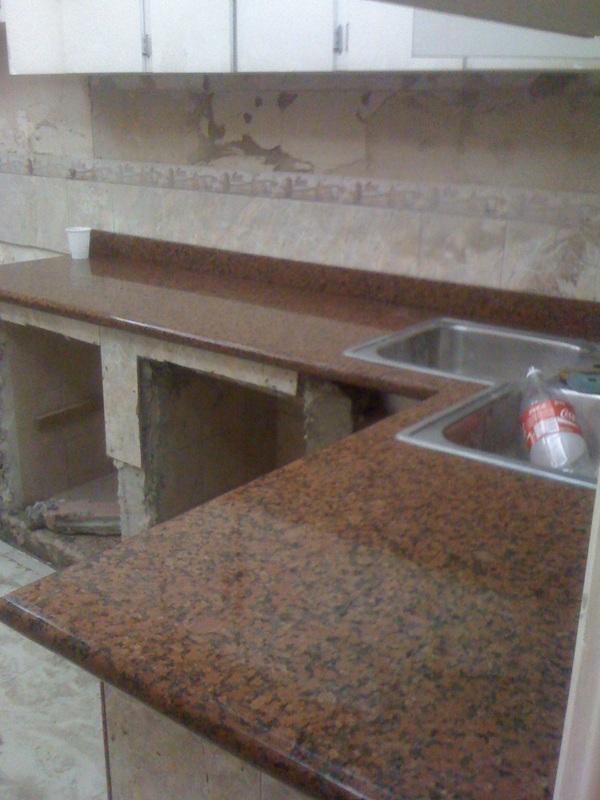 Obras realizadas marmoleria santabarbara c a - Colores de encimeras de granito ...